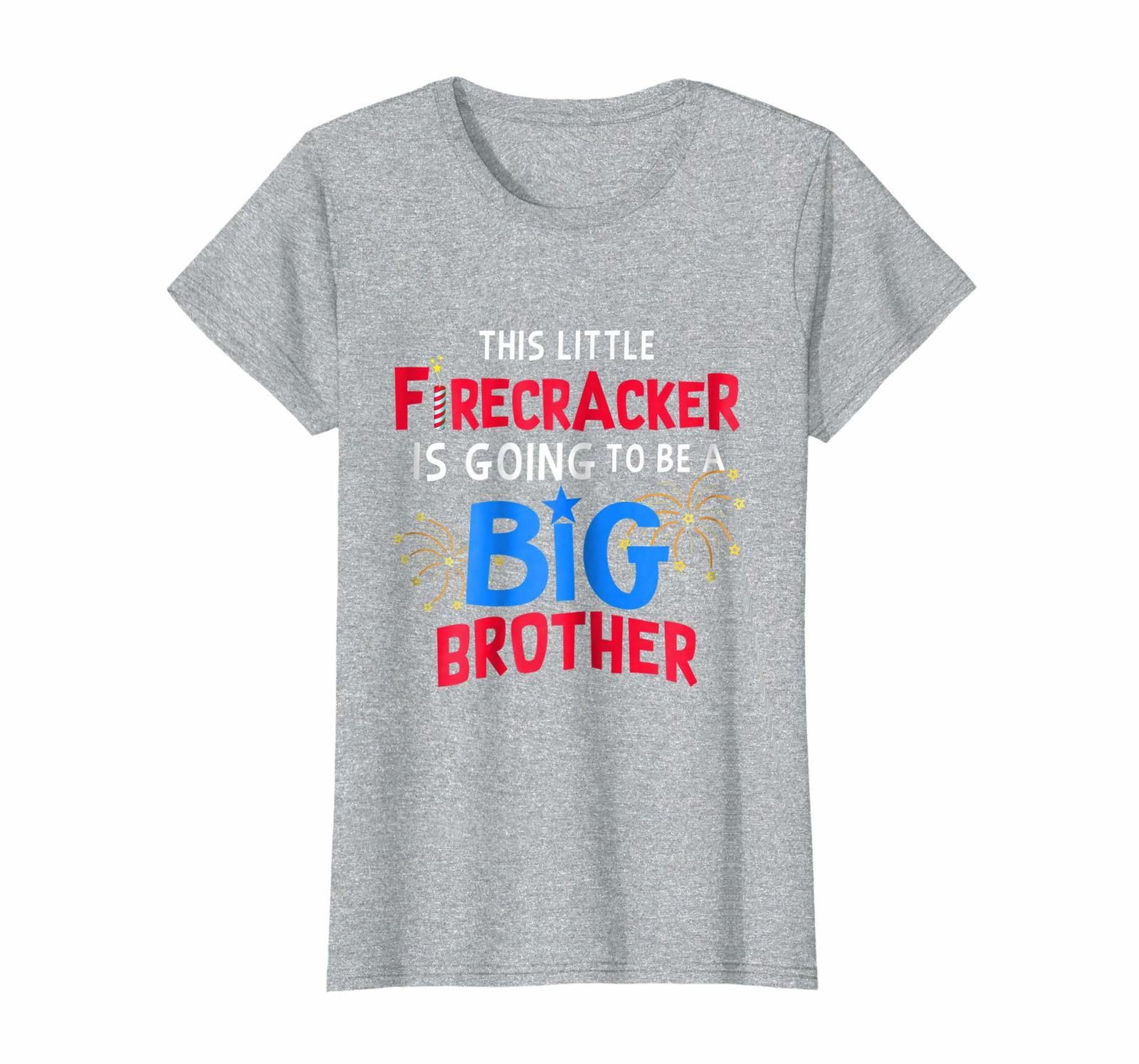 Brother Shirts - This Little Firecracker is going to be Big Brother 4th July Wow