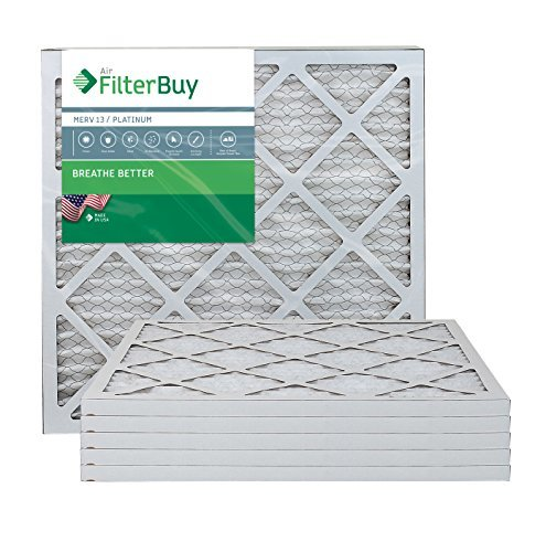 Filterbuy 18x22x1 Merv 13 Pleated Ac Furnace Air Filter