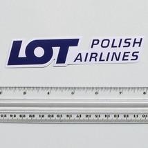 #2478 LOT Polish Airlines Poland Flight Logo Travel Luggage Label Decal ... - $3.90