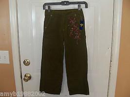 OshKosh B'gosh Olive Green Corduroy Pants Size 7 Girl's NEW - $20.28