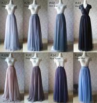 Blue Tulle Maxi Skirt Full Length Tulle Skirt Blue Themed Wedding Skirt Outfit image 13