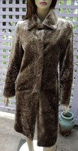 SISLEY Shimmering Taupe Brown Long Lined Faux Fur Jacket Coat (38/US 4) - $78.30