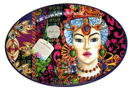 "Baci Milano Seaside Escape Baroque Jewels Female Melamine 20"" Serving Tr... - $52.99"