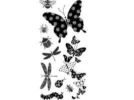 Inkadinkado Patterned Bugs Clear Stamp Set #97626