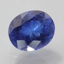 Blue Sapphire Lab Created Flame Fusion Synthetic Faceted Oval Gem 3.87 c... - $69.35