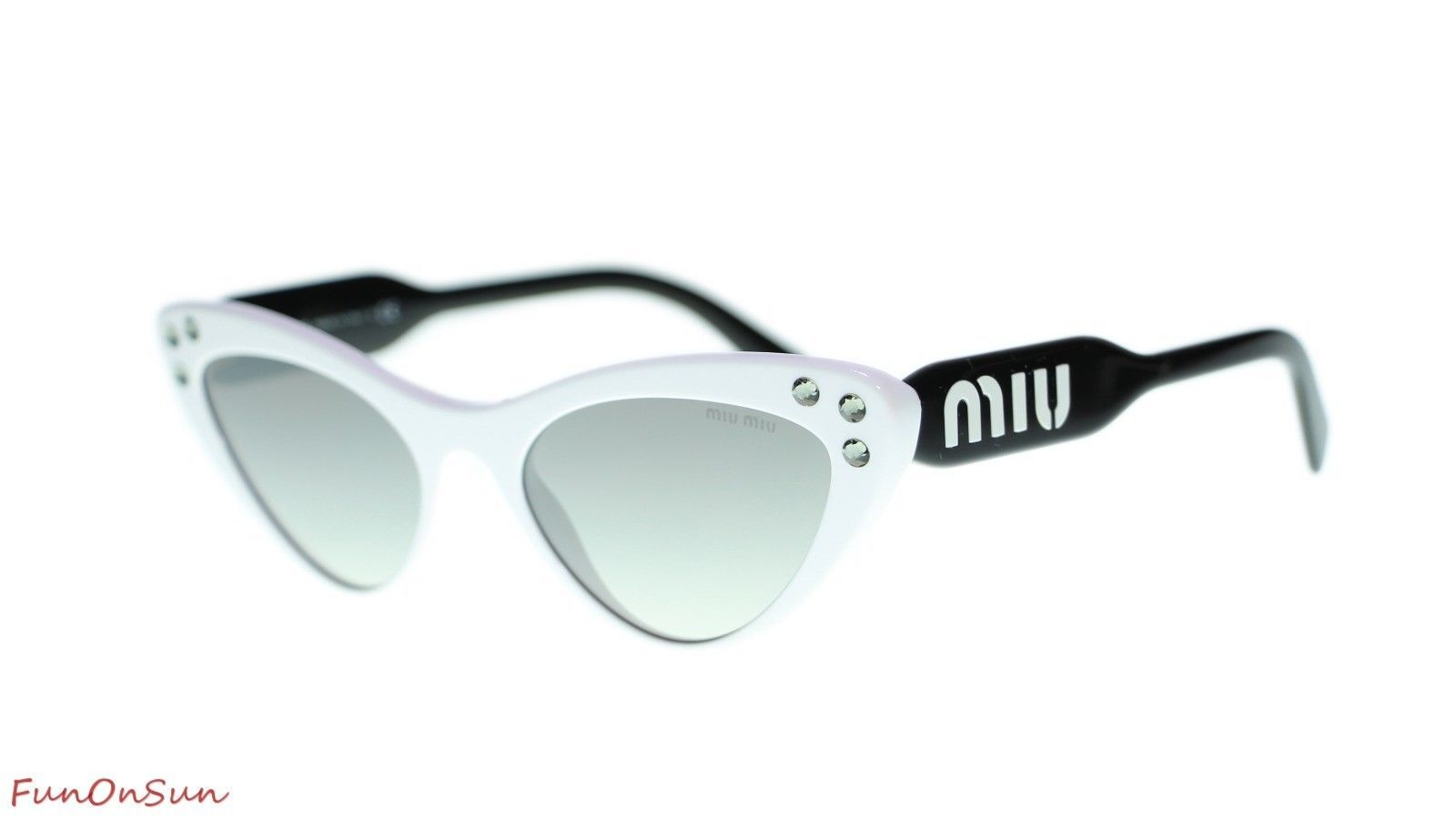 fdd66894d08a MIU MIU WOMEN SUNGLASSES MU05TS 4AO5O0 White Grey Mirror Silver Lens 55mm -   232.80