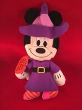Disney Minnie Plush Halloween Treat Bag  Witch Costume Stuffed Animal  M... - $19.75