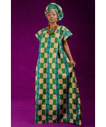 Zog etoun nguem bubu dress and matching headwrap (ESSINGAN) - $64.00