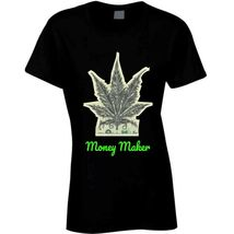 Money Maker 420 Canna Ladies T Shirt image 10