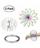 Acomon Flow Ring 2 Pack Magic Flow Ring Kinetic Spring Toy 3D Interactiv... - $10.01