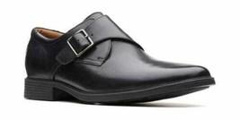 Clarks Men Tilden Style Plain Toe Monk Strap Loafers Size US 12W Black L... - $51.76