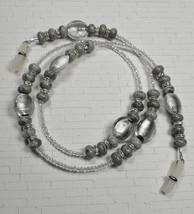 Glasses Sunglasses Chain Holder Beaded Foil Glass Leopard Jasper Crystal... - $24.24