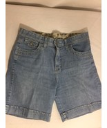 Lee Comfort Women Blue Shorts Size M Solid Color Made In Vietnam Bin62#29 - $12.19