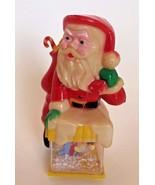 Vintage Santa Snowglobe w/ Mary & Baby Jesus BRITE STAR 1980 - $24.99