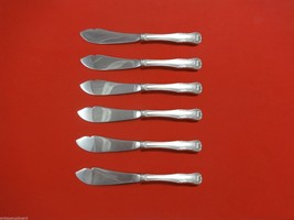 "King by Kirk Sterling Silver Trout Knife Set 6pc. HHWS  Custom Made 7 1/2"" - $418.10"