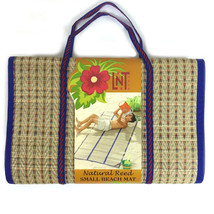 Portable Folding Picnic Beach Mat Natural Reed Fibers By Linens N Things - €18,47 EUR