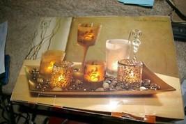 Elements Tealight Centerpiece Bronze Flocked - $9.99