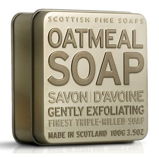 Scottish Fine Soaps Exfoliating Oatmeal Soap in a Tin 100g 3.5oz