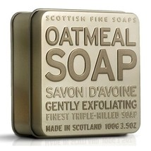 Scottish Fine Soaps Exfoliating Oatmeal Soap in a Tin 100g 3.5oz - $12.00