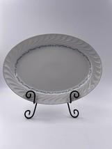 "Celebrity Fine China Evening Tide 16"" Oval Serving Platter Blue White Si... - $32.17"