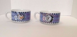 Looney Tunes Bugs Bunny & Daffy Duck Diner Mugs/Soup Bowls - 1998 - Warn... - $14.84