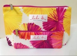 Clinique Lulu dk Hot Pink, Purple, Yellow and White Cosmetic Makeup Bag Set - $2.75
