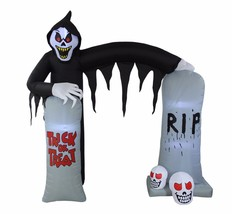 8 Foot Tall Halloween LED Inflatable Ghost Skeleton Grim Reaper Yard Dec... - $119.00