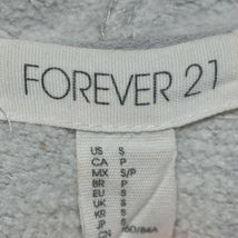 Forever 21 Women's Plain Gray Front Pocket Pullover Hooded Sweatshirt Hoodie S image 3