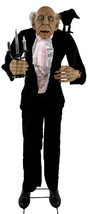 LIFESIZE ANIMATED Grandin Road Benard  BUTLER Halloween Haven Prop SEE V... - €156,86 EUR