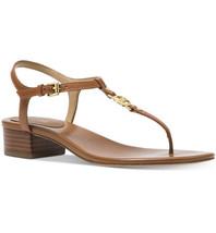 Nib Michael Michael Kors Cayla Mid Sandal - Luggage Size 9.5M - $59.39