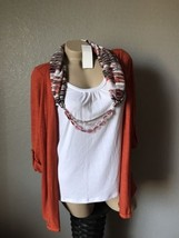 NWT Notations Orange Beaded Top Small  - $16.69