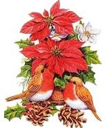Poinsettas Robins Cross Stitch Pattern***LOOK*** - $3.95