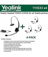 Bundle of 4 Yealink YHS33 Wideband Headset for Yealink IP Phones, plug a... - $157.14