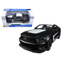 2011 Ford Mustang Boss 302 Matt Black 1/24 Diecast Model Car by Maisto 3... - $18.99