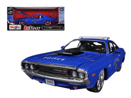 1970 Dodge Challenger R/T Coupe Police Blue All Stars 1/24 Diecast Model Car by  - $36.39