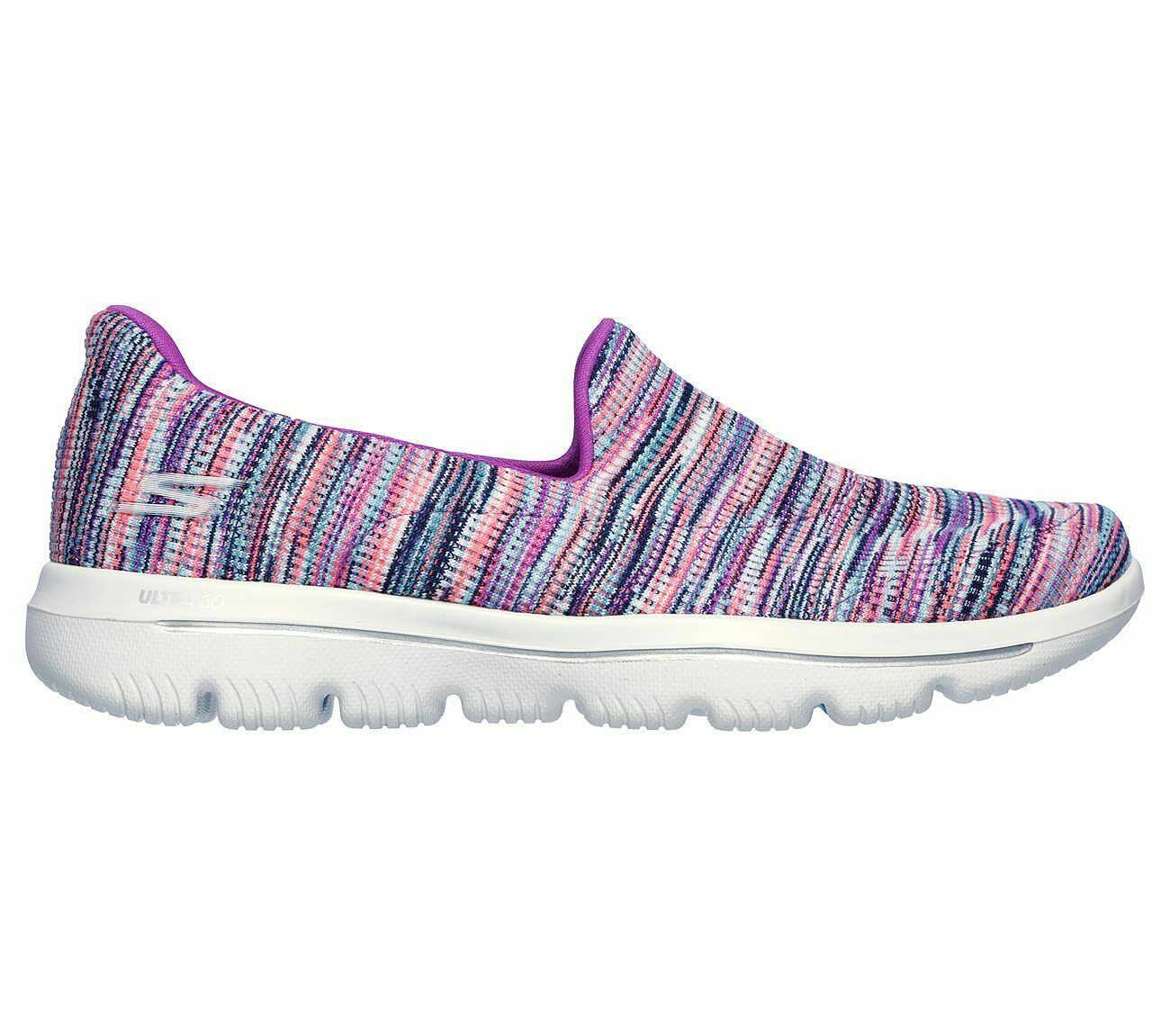 Skechers Shoes Purple Pink Go Walk Evolution Women's Sporty Casual Slip On 15759 image 2