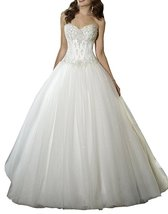 Cheap Ball Gown Sweetheart Wedding Dress Ivory,Wedding Gown,Bridal Dress 2017 - $199.00