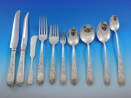 Old Maryland Engraved by Kirk Sterling Silver Flatware Set 143 pcs Mono R Dinner - $9,355.50