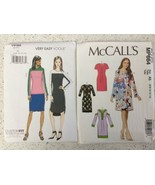 Lot Of 2 Sewing Patterns McCall's 7715 Vogue 9166 Easy Tunic Dress Skirt... - $9.39