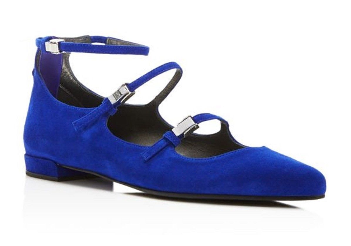 d2ee22f0cb New $398 Stuart Weitzman Flippy Electric Suede Blue Ballet Flats Shoes Size  6.5 - $116.10