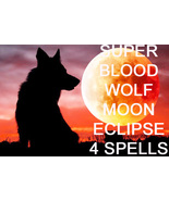 JAN 20TH SUPER BLOOD WOLF MOON ECLIPSE 4 27X BLESSINGS MAGICK Witch Cass... - $133.33