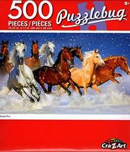 Cra-Z-Art Blizzard Run - Puzzlebug - 500 Piece Jigsaw Puzzle - p010 - $14.98