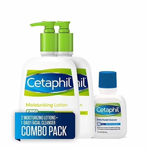 Cetaphil Moisturizing Lotion for All Skin Types, Body and Face Lotion, Two 16-oz