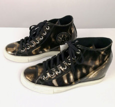Converse Chuck Taylor All Star Brush Off Leather Lux Sneaker Antique Bla... - $74.99