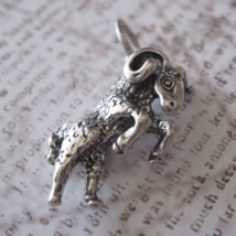 3D Aires Charm Vintage Shube's - Made in the USA - Sterling Silver Ram L... - $12.00