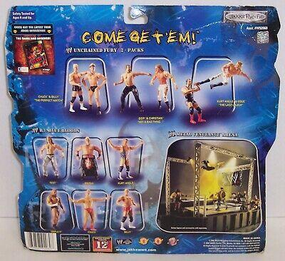 """NEW! '02 Jakk's Unchained Fury """"Billy"""" & """"Chuck"""" Action Figure Set WWE [1473}"""