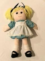 "Vintage Handmade Cloth Rag Doll Stuffed Blonde Yarn Hair Homemade 19"" Girl - $49.99"