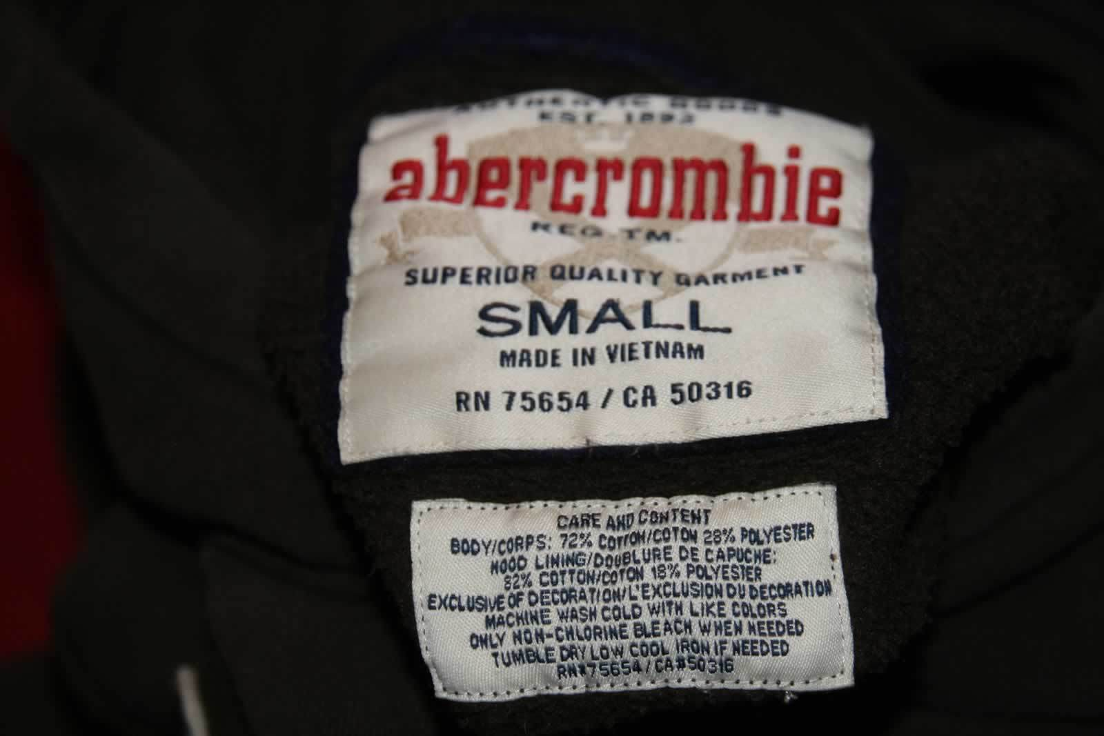 Abercrombie Brown And Blue Authentic Pullover Hoodie Sz S