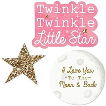 Big Dot of Happiness Pink Twinkle Twinkle Little Star - DIY Shaped Baby ... - $11.36