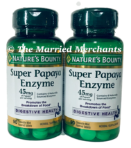 Nature's Bounty Super Papaya Enzyme 45 mg 90 tablets ea 11/2022 FRESH! - 2 pack - $15.99